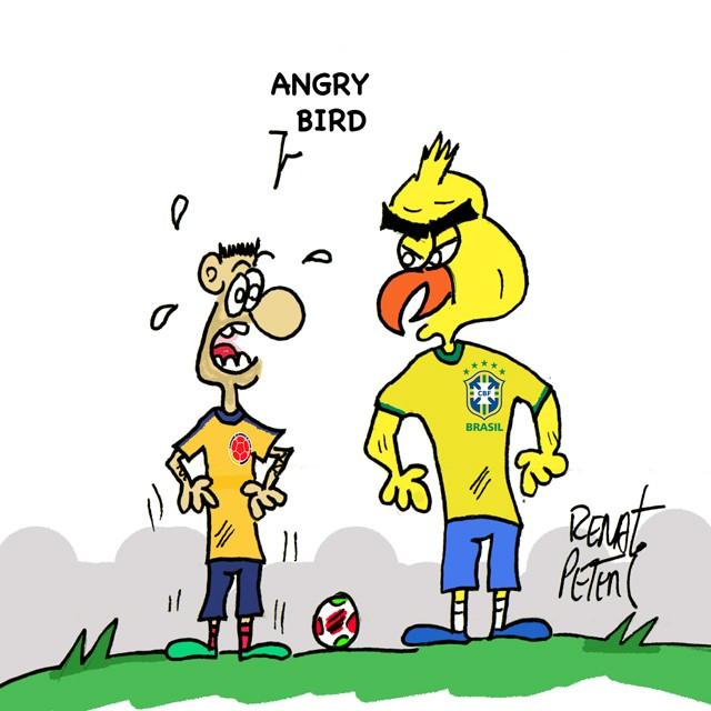 Colômbia x Brasil - Charge Peters