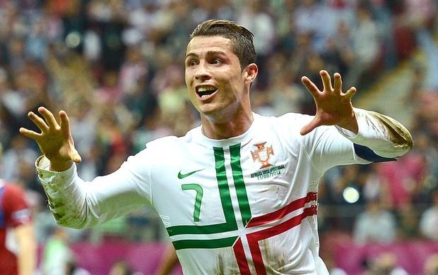 Cristiano Ronaldo comemora gol de Porttugal (Foto: AFP)