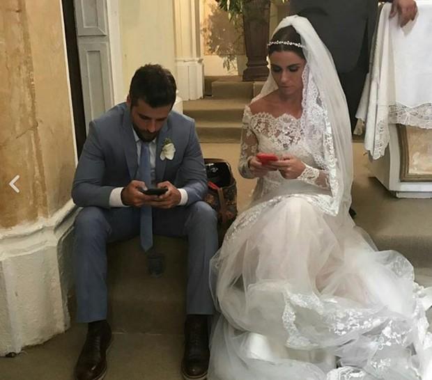 Bruno Gagliasso e Giovanna Antonelli em bastidor de Sol Nascente (Foto: Reprodução/Instagram)