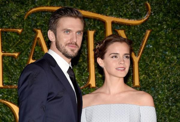 Emma Watson e Dan Stevens no lançamento de A Bela e a Fera em Londres (Foto: Getty Images)