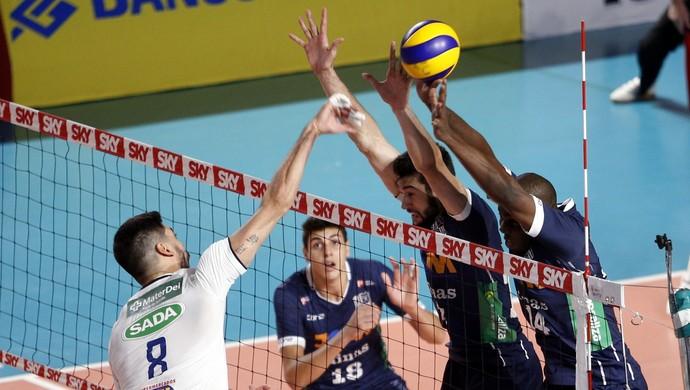 Minas Tênis Clube x Cruzeiro, vôlei (Foto: Orlando Bento / Minas Tênis Clube)