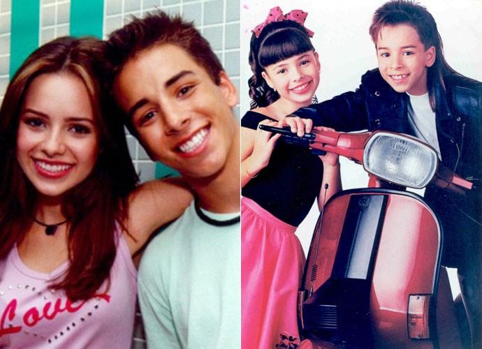 A dupla Sandy e Junior em momentos diferentes da carreira (Foto: Divulgação)