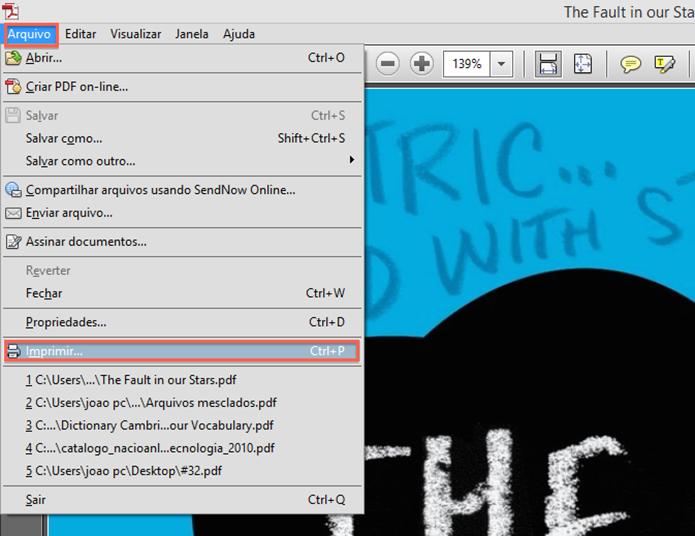 Iniciando o processo de impressão do arquivo através do PDFCreator (Foto: Reprodução/Marvin Costa)