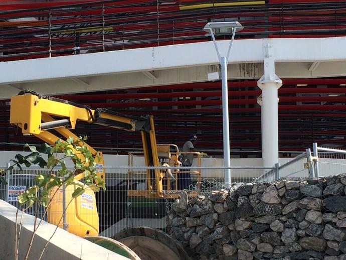 obras, Centro Olímpico de Tênis, Olimpíada, Rio 2016 (Foto: GloboEsporte.com)