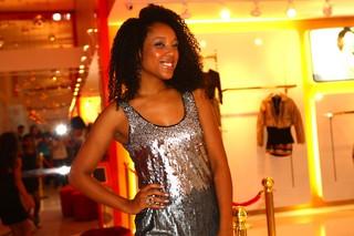 Negra Li em evento de loja em São Paulo (Foto: Iwi Onodera / EGO)