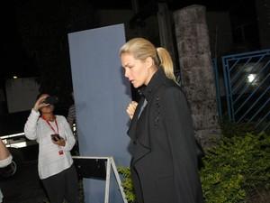 Ana Hickmann deixa delegacia após prestar depoimento em Belo Horizonte; fã foi morto após ameaçá-la (Foto: DENILTON DIAS/O TEMPO/ESTADÃO CONTEÚDO)