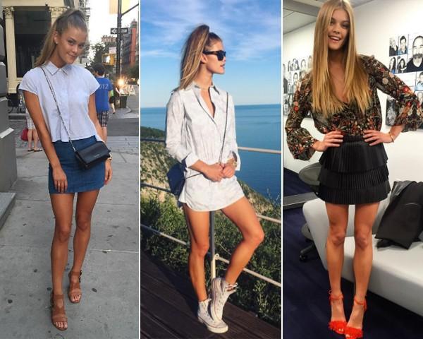 Curtos: a modelo adora usar minissaias (Foto: Reprodução Instagram)