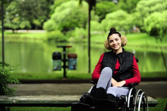 Lais Souza no parque ibirapuera (Foto: Marcos Ribolli)
