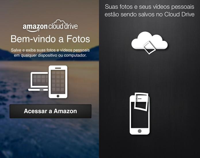 O app Amazon Cloud Drive Photos faz backup das suas fotos e vídeos diretamente para a nuvem (Foto: Divulgação/Amazon)