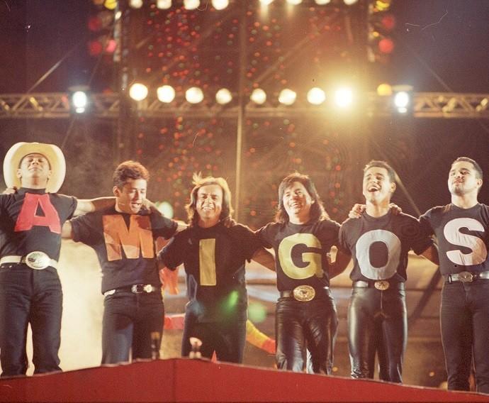 Quem não se lembra da primeira edição do show Amigos? (Foto: CEDOC/TV Globo)