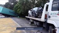 Giro de notícias: Dois acidentes deixam três mortos na BR-470