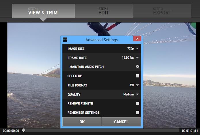 Edite a taxa de quadros no vídeo (Foto: Reprodução/Aline Jesus)