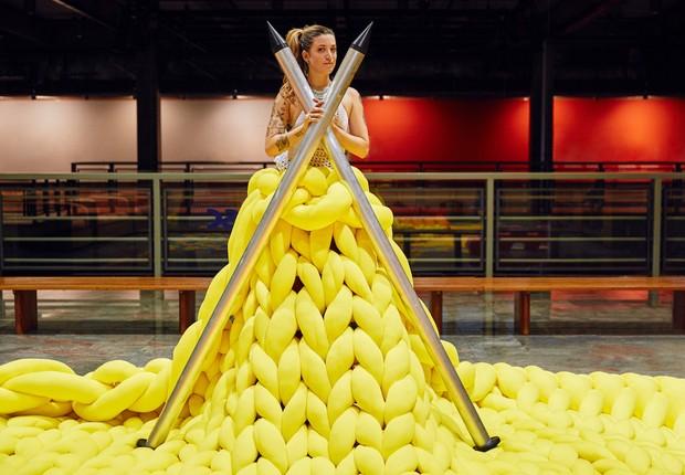 Anne Galante ficou famosa com suas obras de crochê (Foto: Divulgação)