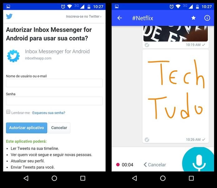Outras opções de mensagens do aplicativo (Foto: Felipe Alencar/TechTudo)