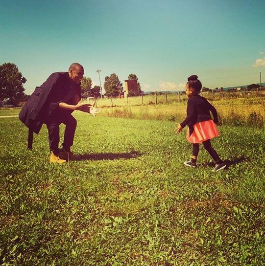 Jay Z e Blue Ivy (Foto: Instagram / Reprodução)