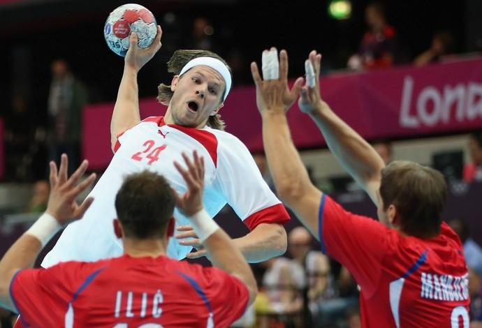 Mikkel Hansen - Olimpíadas de Londres 2012 - Dinamarca (Foto: Getty Images)