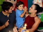 Juliana Knust reúne famosos na festa de 3 anos do filho