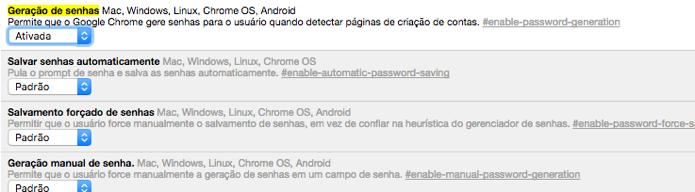 Gere senhas com o Google Chrome (Foto: Reprodução/André Sugai)