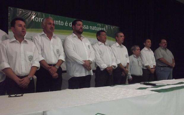 Posse do novo presidente do Alecrim Futebol Clube, em Natal (Foto: Matheus Magalhães/GLOBOESPORTE.COM)