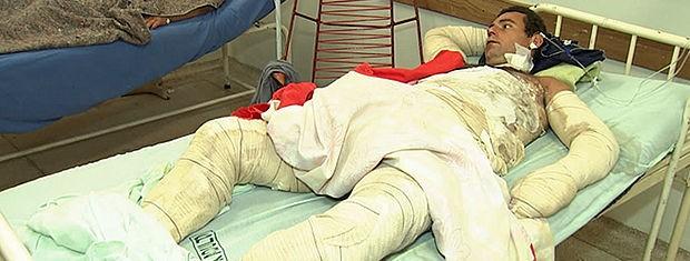 Paciente aguarda desde sábado para ser transferido (Foto: Reprodução /TVCA)