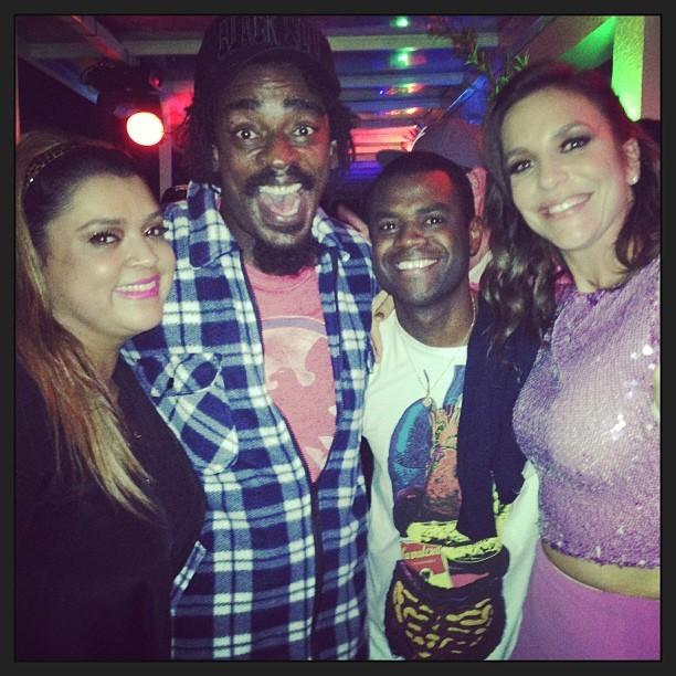 Preta Gil, Seu Jorge, Pretinho da Serrinha e Ivete Sangalo (Foto: Reprodução/Instagram)