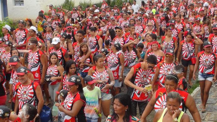 Bloco Flamengo AL (Foto: Viviane Leão/GloboEsporte.com)