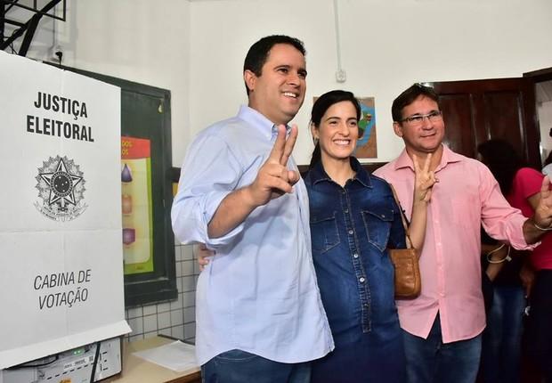 Edivaldo Holanda Junior, atual prefeito de São Luís, durante votação  (Foto: Reprodução Facebook )