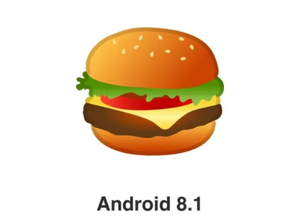 O cheeseburger 8.1 do Android (Foto: Reprodução/YouTube)