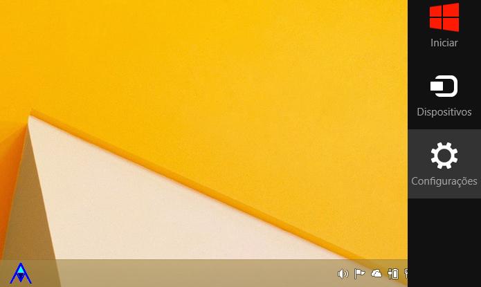 Abra a Charm Bar do Windows 8 para acessar as configurações (Foto: Reprodução/Helito Bijora)
