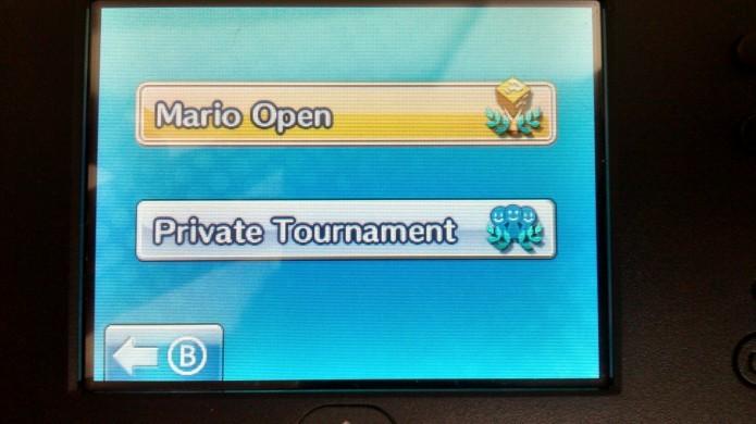 Selecione Mario Open ou Private Tournament (Foto: Paulo Vasconcellos)