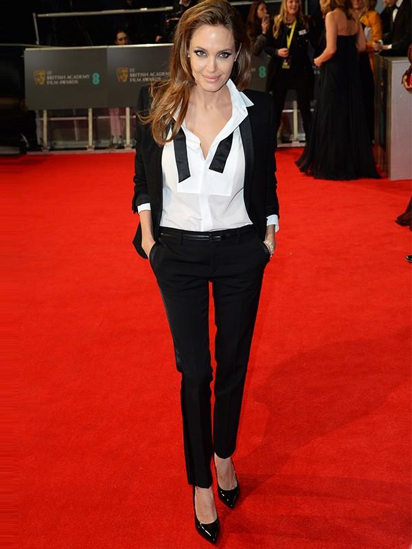 Angelina Jolie no BAFTA, em Londres (Foto: Getty Images)