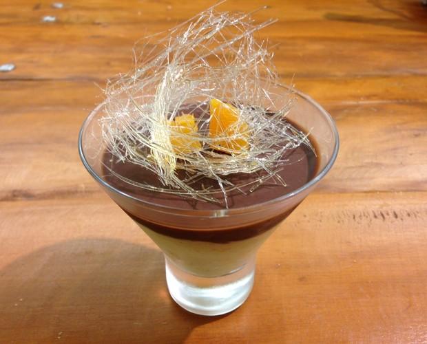 Mousse de damasco com ganache de chocolate é uma aposta de Renan em seu novo negócio (Foto: Arquivo Pessoal)
