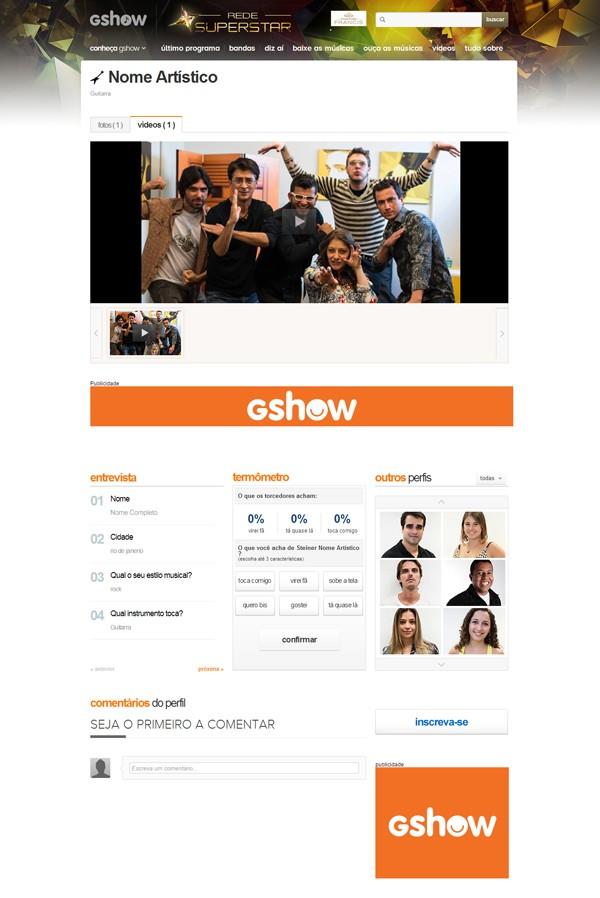 Rede SuperStar_perfil (Foto: SuperStar / TVGlobo)