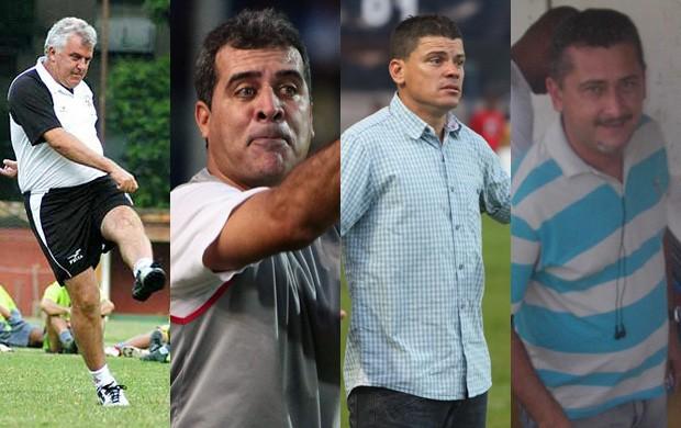 Fito Neves, Vinícius Saldanha, Celinho Valentim e Leandro Lago são alvos do Imperatriz (Foto: Montagem/Globoesporte.com)