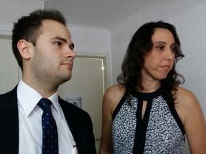 Advogados de Henri Casteli Newton Pereira Gonçalves Neto e Vanessa Carneiro Gonçalves (Foto: Derek Gustavo/G1)