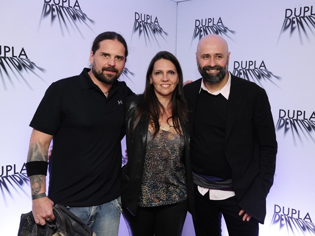 Andreas Kisser, Patrícia Kisser e Mauro Mendonça Filho  (Foto: Estevam Avelar/TV Globo)