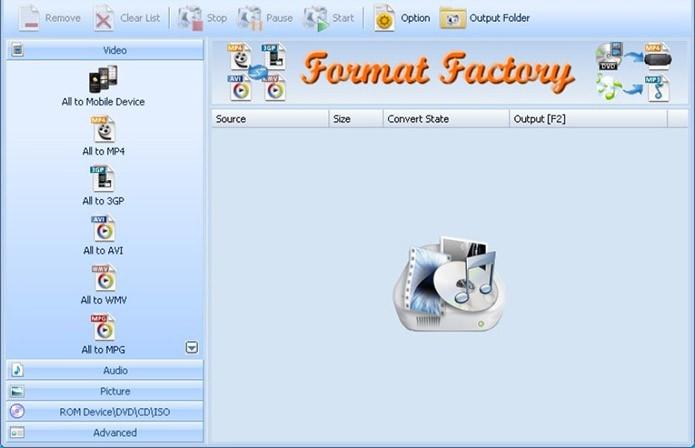 Format Factory oferece conversão para centenas de formatos de vídeo, foto e áudio no PC (Foto: Divulgação)