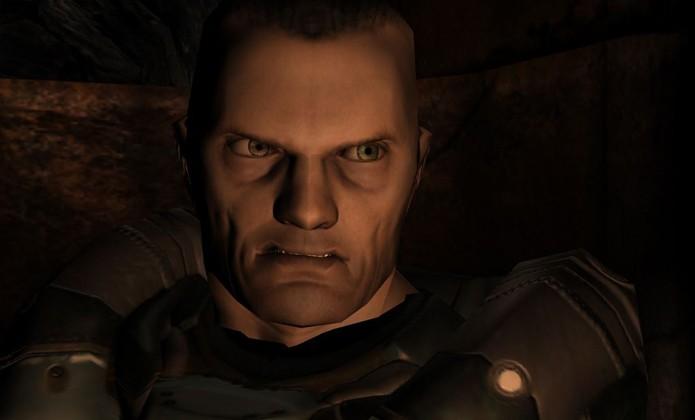 O soldado de Resurrection of Evil não parece um herói altruísta como o Doomguy (Foto: ign.com)