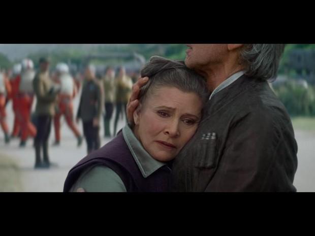 Carrie Fisher em 'Star Wars - O Despertar da Força' (2015). (Foto: Divulgação/Lucas Film)
