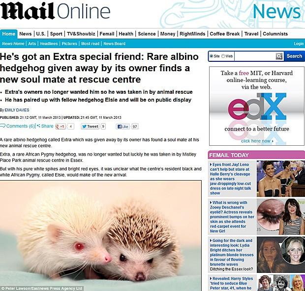 Extra e Elsie (Foto: Daily Mail/Reprodução)