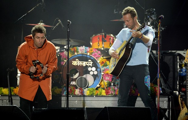 Liam Gallagher e Chris Martin (Foto: Getty Images)