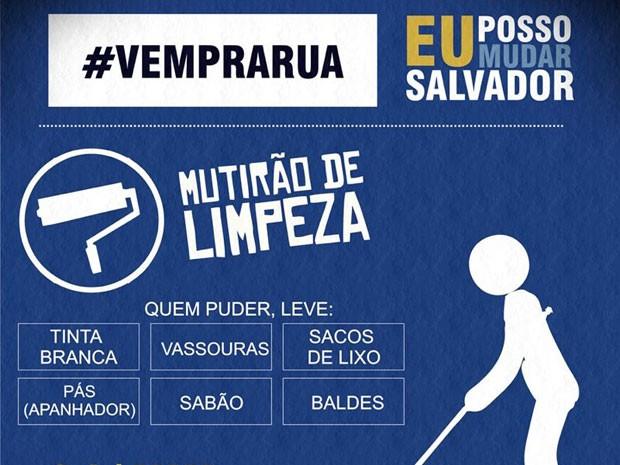 Salvador amanhece com traços de vandalismo após protestos nas ruas (Foto: Reprodução)