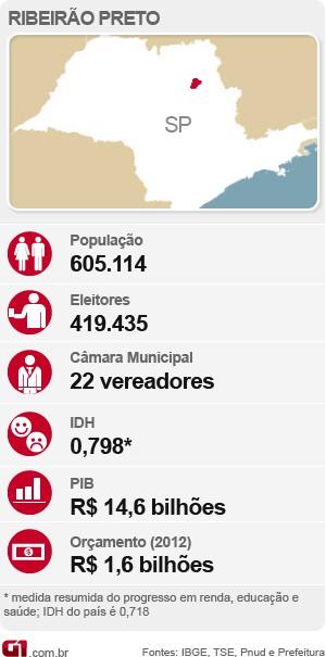 Dados de Ribeirão Preto (SP). (Foto: Arte/Rhenê Cavichia)