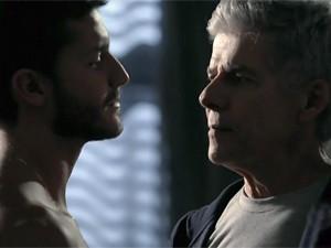 José Mayer e Klebber Toledo em 'Império' (Foto: TV Globo)