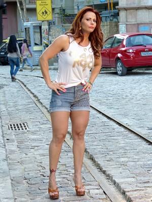Viviane Araújo revela dieta  (Foto: Império/TV Globo)