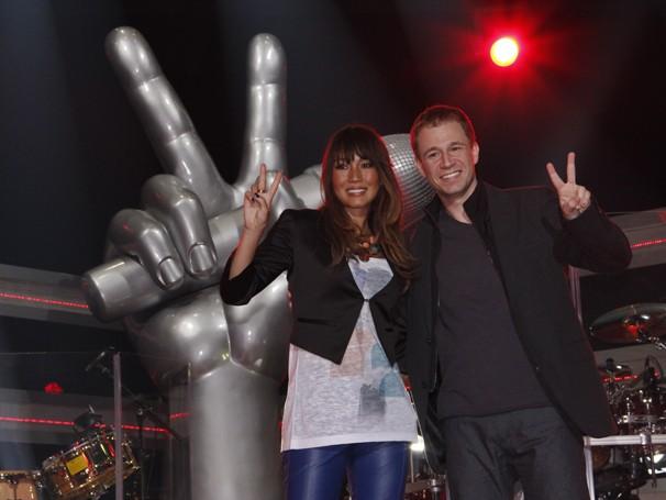 Daniele Suzuki e Tiago Leifert (Foto: Nathalia Fernandes/ TV Globo)
