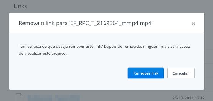 Confirme a ação de remover o link compartilhado (Foto: Reprodução/Helito Bijora)