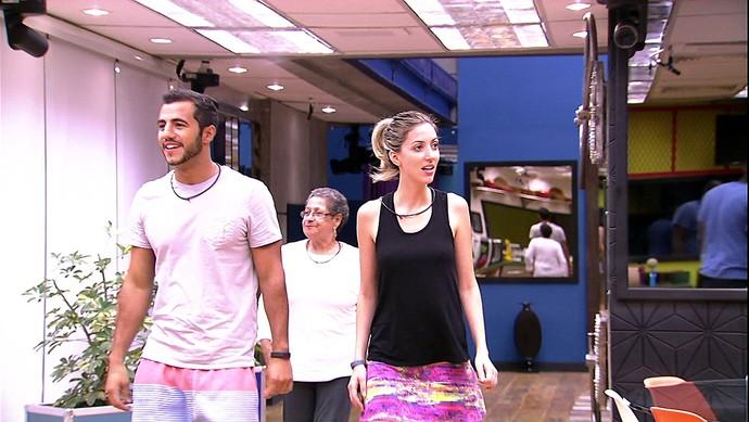 Encontro candidatos e brothers Matheus e Fernanda Tarde casa 23_01 (Foto: TV Globo)