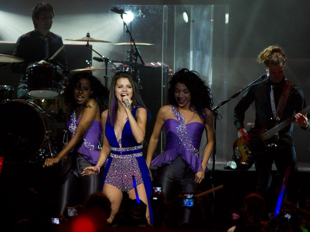 Selena vem ao Brasil para divulgar o disco 'When the sun goes down', lançado em 2011 (Foto: Flavio Moraes/G1)