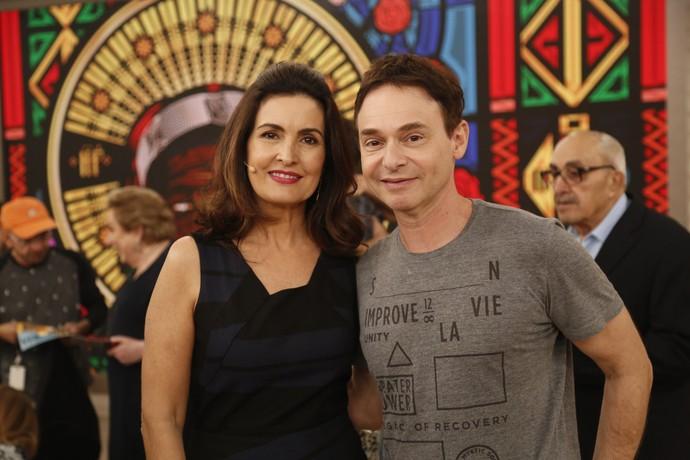 Fátima com o parceiro, o dr. Jairo Bouer (Foto: Raphael Dias/Gshow)